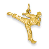Male Karate Charm 14k Gold C1243