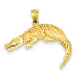 Alligator Pendant 14k Gold C128