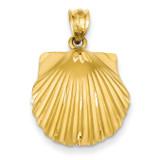 Seashell Pendant 14k Gold C129