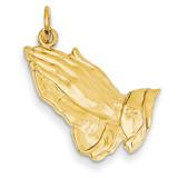 Praying Hands Pendant 14k Gold C1305