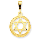 Star Of David Charm 14k Gold C1312