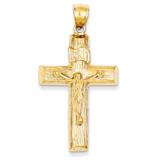 Crucifix Charm 14k Gold C1361