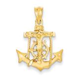 Mariners Cross Pendant 14k Gold C139