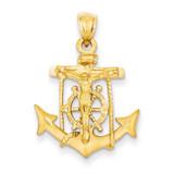 Mariners Cross Pendant 14k Gold C141