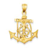 Mariners Cross Pendant 14k Gold C144