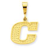 Initial C Charm 14k Gold C1449-C