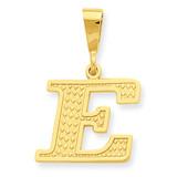 Initial E Charm 14k Gold C1449-E