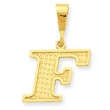 Initial F Charm 14k Gold C1449-F