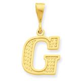 Initial G Charm 14k Gold C1449-G