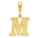 Initial M Charm 14k Gold C1449-M