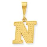 Initial N Charm 14k Gold C1449-N