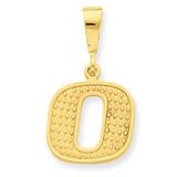 Initial O Charm 14k Gold C1449-O