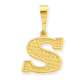 Initial S Charm 14k Gold C1449-S