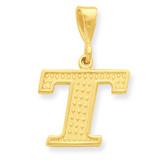 Initial T Charm 14k Gold C1449-T