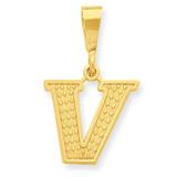 Initial V Charm 14k Gold C1449-V