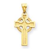 Celtic Cross Charm 14k Gold C1461