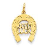Horseshoe Good Luck Charm 14k Gold C1463