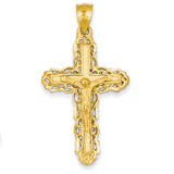 Crucifix Charm 14k Gold C152