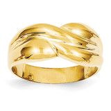 Twisted Dome Ring 14k Gold Polished C1560