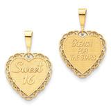 Sweet 16 Charm 14k Gold C1669