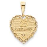 25th Anniversary Charm 14k Gold C1672