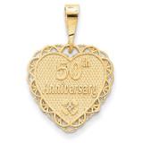 50th Anniversary Charm 14k Gold C1673