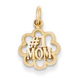 #1 Mom Charm 14k Gold C1683