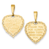 For My Best Friend Charm 14k Gold C1685