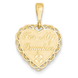 For My Daughter Charm 14k Gold C1701