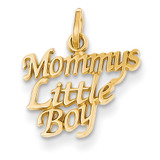 Mommys Little Boy Charm 14k Gold C1705