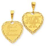 Reversible For A Special Grandma Pendant 14k Gold C1707