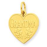 Grandma Heart Charm 14k Gold C1709