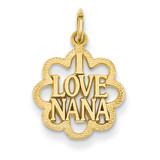 I Love Nana Charm 14k Gold C1710