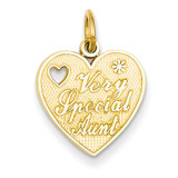 Very Special Aunt Charm 14k Gold C1728