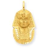 Satin Diamond-cut King Tut Charm 14k Gold C1736