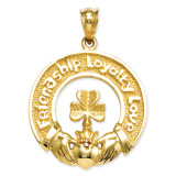 Claddagh Leaf Charm 14k Gold C1755