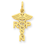 Registered Nurse Practitioner Charm 14k Gold C1787