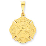Fire Rescue Pendant 14k Gold C1790