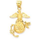 U.S. Marine Pendant 14k Gold C1805