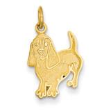 Dog Charm 14k Gold C1842