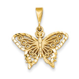 Butterfly Charm 14k Gold C1849