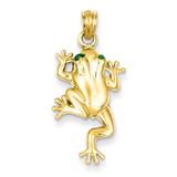 Frog with Enameled Eyes Charm 14k Gold C1873