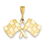 Racing Flags Pendant 14k Gold C1878