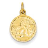 Angel Charm 14k Gold Polished C1894
