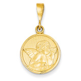 Raphael Angel Pendant 14k Gold Polished & Satin C1895