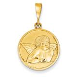 Angel Pendant 14k Gold Polished & Satin C1896