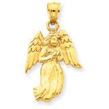 Angel Charm 14k Gold Polished C1899