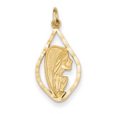 Blessed Mary Charm 14k Gold C1919
