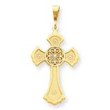 Celtic Cross Pendant 14k Gold C1937