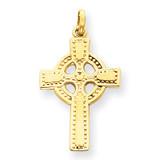 Celtic Cross Pendant 14k Gold C1941